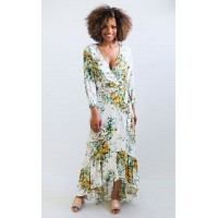 Women field of flowers printed dress Elegant and noble it makes people shine SYNODBE