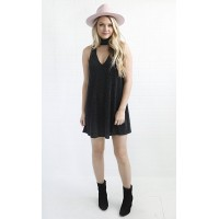 Women show me your mumu: friday choker dress - dancing queen shine black Elegant and noble it makes people shine DCOMWRM