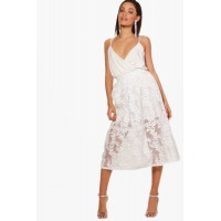 Embroidered Sheer Woven Midi Skirt Comfortable elegant and beautiful Please select DZZ35324