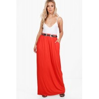 Plus Pocket Front Jersey Maxi Skirt Comfortable elegant and beautiful Please select PZZ92905