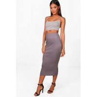 Strappy Bandeau & Rib Midi Co-ord Comfortable elegant and beautiful Please select DZZ29282