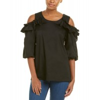 Women Adrienne Cold-Shoulder Top Approximately 26in from shoulder to hem BLACK 468224101 IOUKYSM